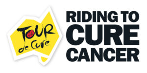 riding to cure cancer logo